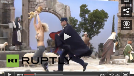 God is Woman - FEMEN - Vatican 2014