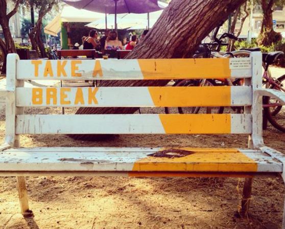 street art - TLV - take a break