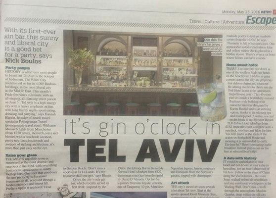 Gin o'clock - Metro GB - vrijmibeau campaign