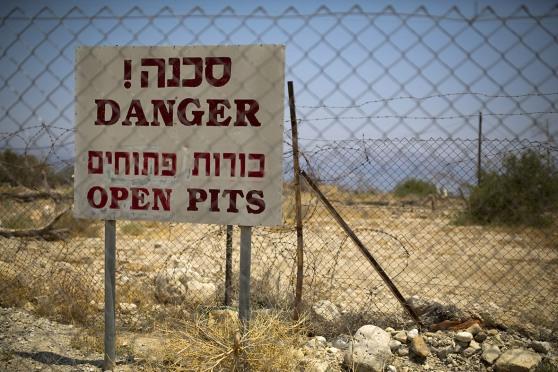 Dead Sea - Danger - Sink Holes